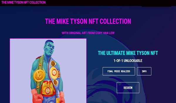 Mike Tyson NFTs Collection By Cory Van Lew