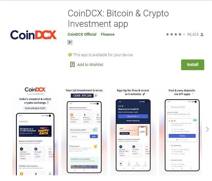 CoinDCX India App