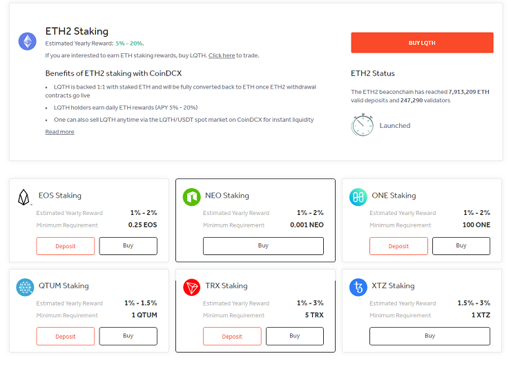 CoinDCX Stake