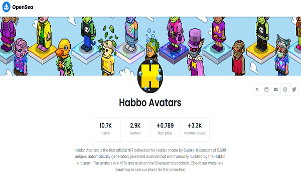 How To Buy Habbo Avatars NFT Collectibles